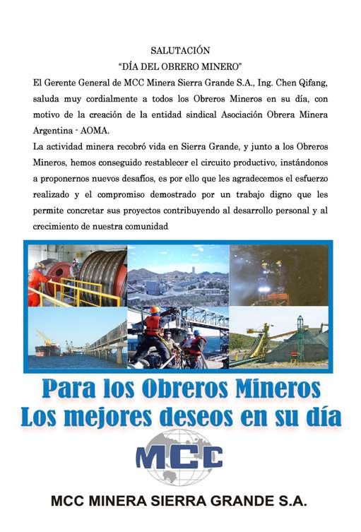 Dia del Obrero Minero