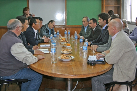 Reunion de autoridades de la provincia con autoridades MCC